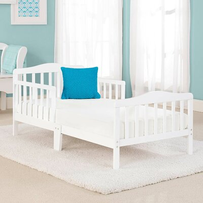 Big Oshi Convertible Toddler Bed Color: White