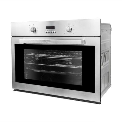 "30"" Convection Electric Single Wall Oven Finish: Stainless Steel"