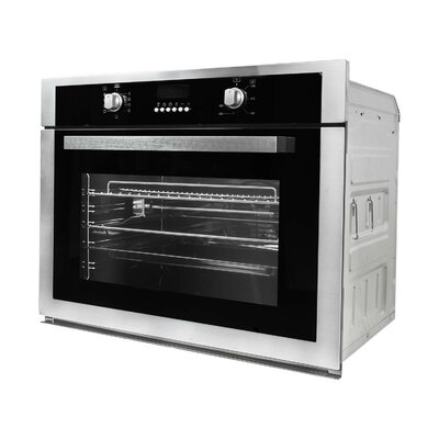 "30"" Convection Electric Single Wall Oven Finish: Black"