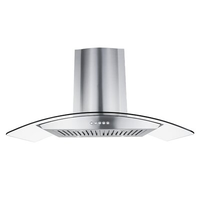 "36"" 760 CFM Ductless Wall Mount Range Hood in Stainless Steel"