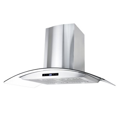 "36"" 760 CFM Ductless Wall Mount Range Hood"