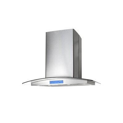 "30"" 900 CFM Ductless Island Range Hood in Stainless Steel"