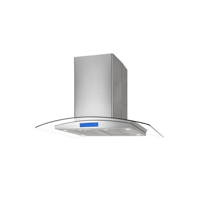 "36"" 900 CFM Ductless Island Range Hood in Stainless Steel"