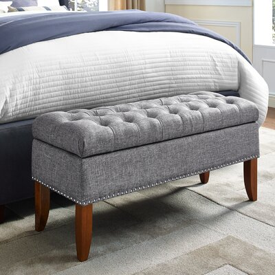 Mortensen Upholstered Storage Bench Color: Gray