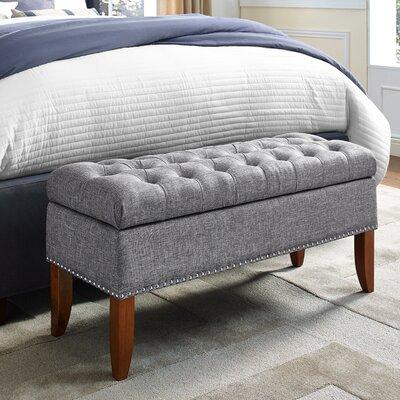 Mortensen Upholstered Storage Bench Color: Gray
