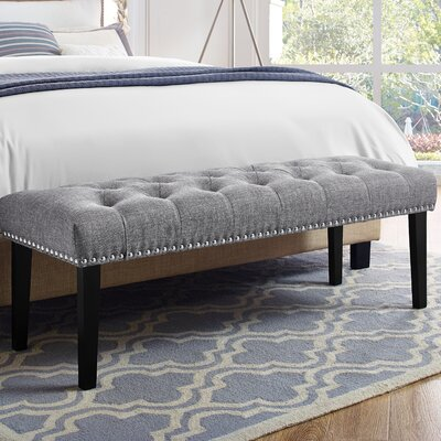 Seapine Upholstered Bench Color: Gray