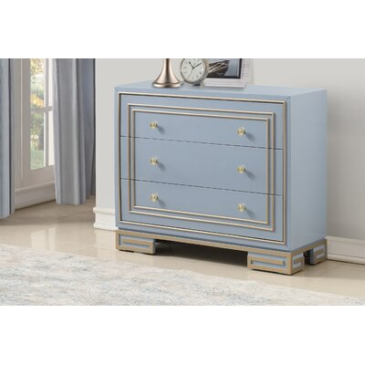Mong 3 Drawer Accent Chest Color: Periwinkle