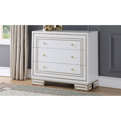 Mong 3 Drawer Accent Chest Color: White
