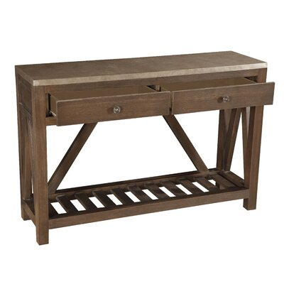 Sagel Wrapped Two Drawer Accent Console Table