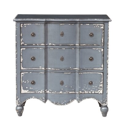 Mabella 3 Drawer Accent Chest Color: Blue