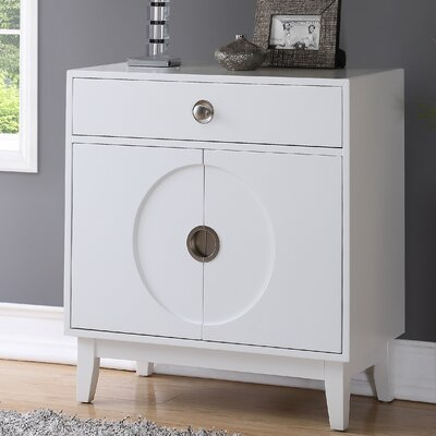 Sheron Mid-Century 2 Door Accent Cabinet Color: White