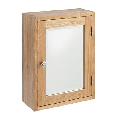 Elements Lansdown 38cm x 50cm Surface Mount Flat Mirror Cabinet
