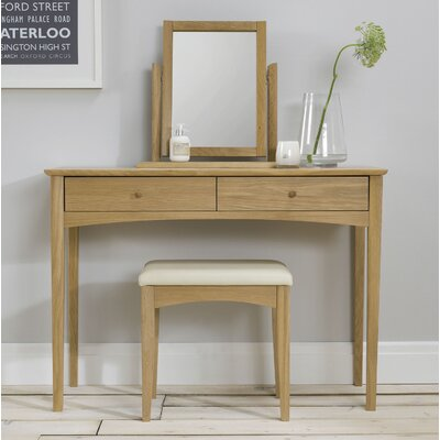 Elements Alba Oak Rectangular Dressing Table Mirror