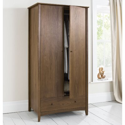 Elements Alba Walnut 2 Door Wardrobe