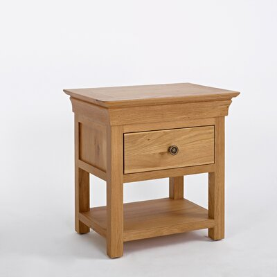 Elements Normandy 1 Drawer Bedside Table