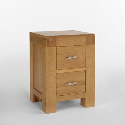 Elements Blonde 2 Drawer Bedside Table