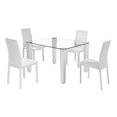 Aspect Design Dining Table and 4 Chairs
