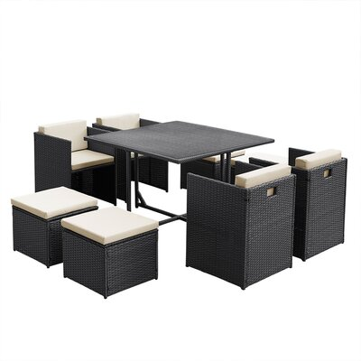 Aspect Design 8 Seater Dining Set with cushions