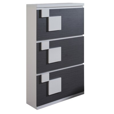 Urban Designs Cleo Brown Shoe Cabinet