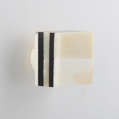 House Additions Square Bone Drawer Knob