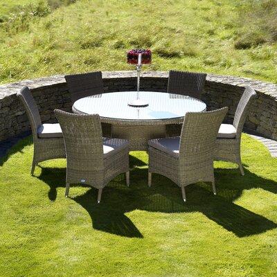 Urban Designs Naunton Manor 6 Seater Dining Set with Cushions