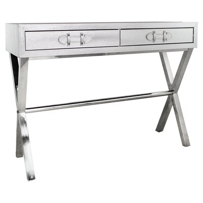 Urban Designs Silver Snakeskin Console Table