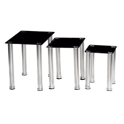 Urban Designs Crystal 3 Piece Nest of Tables