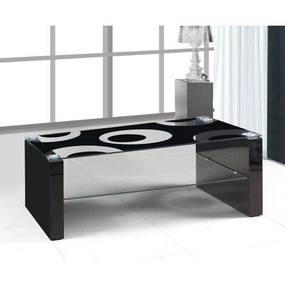 Urban Designs Venice Coffee Table with Magazine Rack