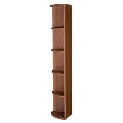 Urban Designs Mag Euro Tall Narrow Corner Bookcase