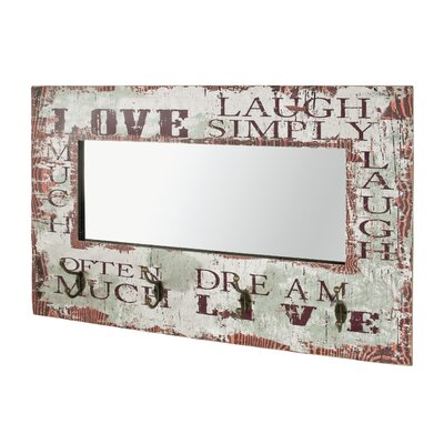 Urban Designs Wall Mounted Coat Rack with Mirror
