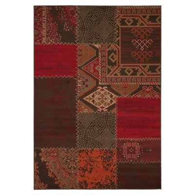 Urban Designs Royce Red Area Rug