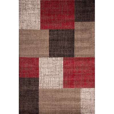 Urban Designs Glamour Red Area Rug