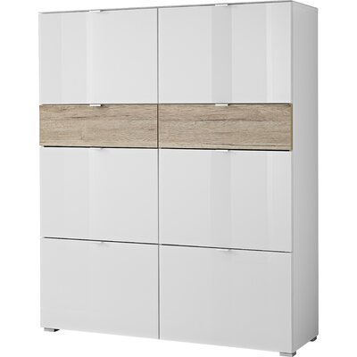 Urban Designs Alameda Shoe Cabinet with 6 Shoe Flaps