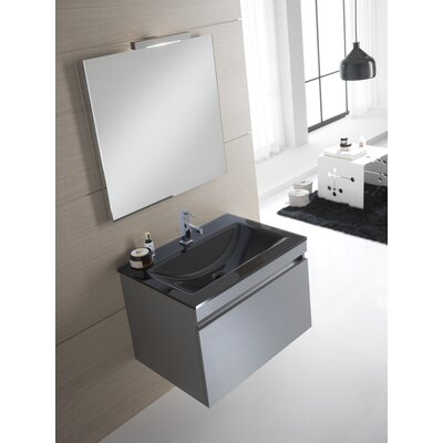 Urban Designs Borneo 70cm Wall Mounted Vanity Unit with Mirror, Tap and Cabinet