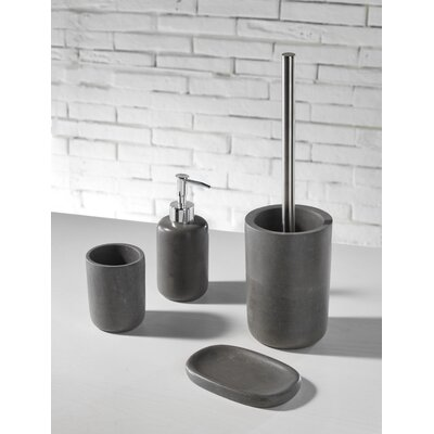 Urban Designs Extra 4 Piece Concrete Bathroom Accessory Set
