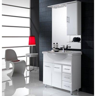 Urban Designs Viva 85cm Vanity Unit with Mirror and Tap