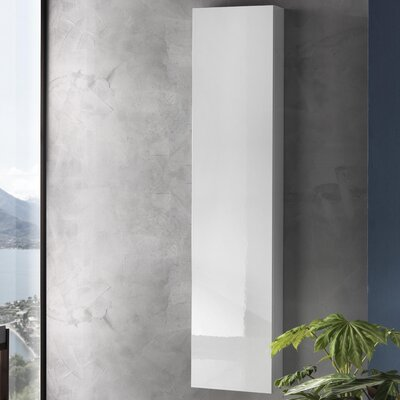 Urban Designs Tuvalu 35 x 160cm Wall Mounted Tall Bathroom Cabinet