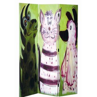 Urban Designs 180cm x 120cm Animals 3 Panel Room Divider