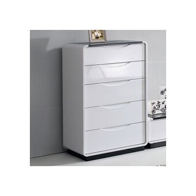Urban Designs Presta 5 Drawer Chest of Drawers