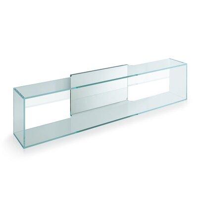 Urban Designs Brama Glass Wall Shelf with Mirror