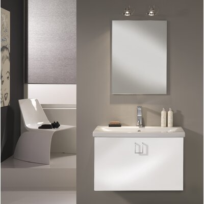 Urban Designs Clever 80cm Wall Mounted Vanity Unit with Mirror, Tap and Cabinet