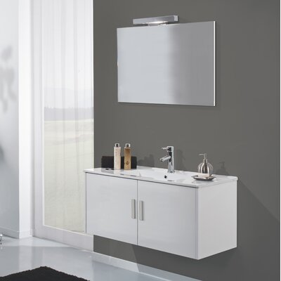 Urban Designs Mali 70cm Wall Mounted Vanity Unit with Mirror, Tap and Cabinet