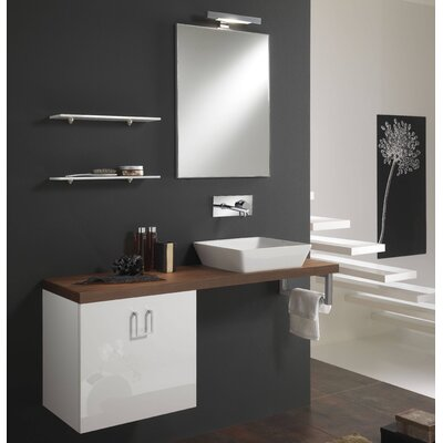 Urban Designs Clever 130cm Wall Mounted Vanity Unit with Mirror, Tap and Cabinet