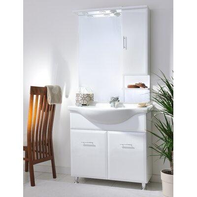 Urban Designs Viva 75cm Vanity Unit with Mirror and Tap