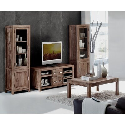 All Home Lia Solid Sheesham Display Cabinet