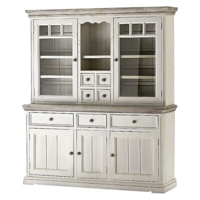 Home & Haus Opia Solid Wood China Cabinet