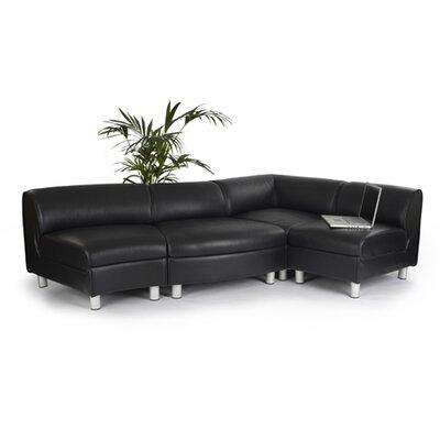 Enduro Black Leather Sectional