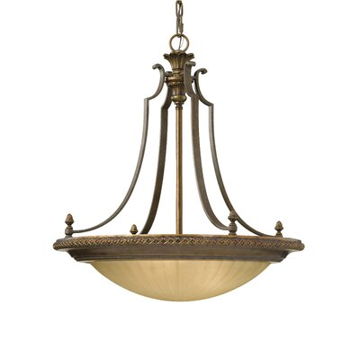 Energo Kelham Hall 4 Light Reverse Pendant