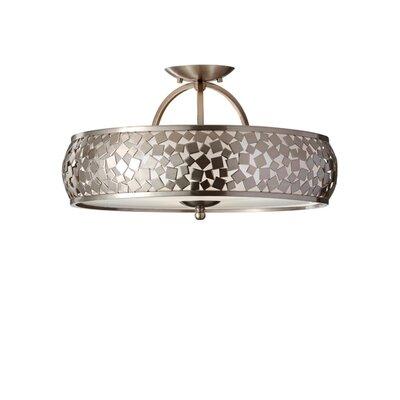 Energo Zara 3 Light Semi Flush Ceiling Light
