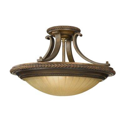 Energo Kelham Hall 2 Light Semi Flush Light